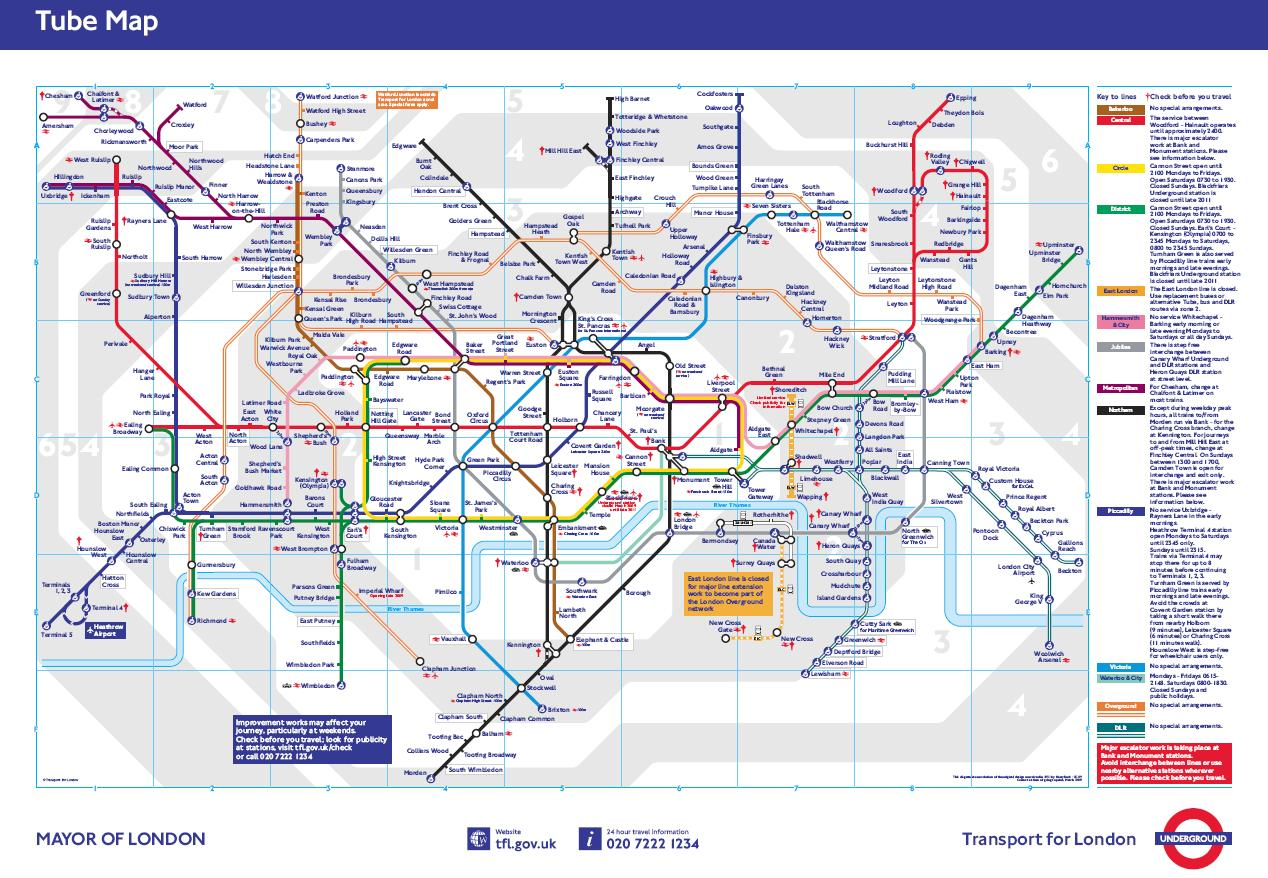 Standard Tube Map March 2009