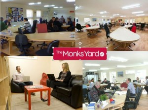 Various photos of The Monks Yard workspace