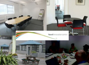 Montage of various Jelly rooms and facilities at the Yeovil Innovation Centre