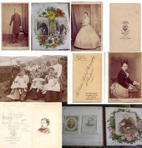 Collage of old Victorian family photos