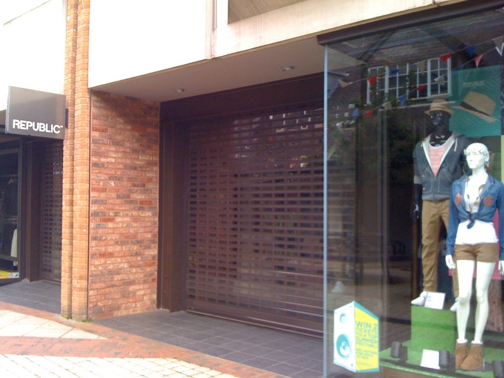 Photo of the shop, Republic, in Yeovil Somerset - closed with no info for public on opening hours