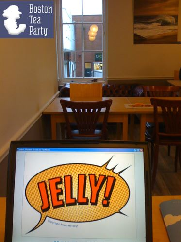 Room used for Jelly coworking event, Boston Tea Party, Barnstaple, Devon