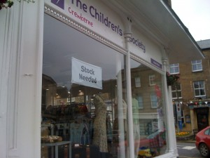 Window of the Children's Society Shop, Crewkerne, Somerset